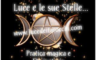 pagina facebook Luce e le sue Stelle per condividere letture interessanti rituali consigli e speciali eventi a tema