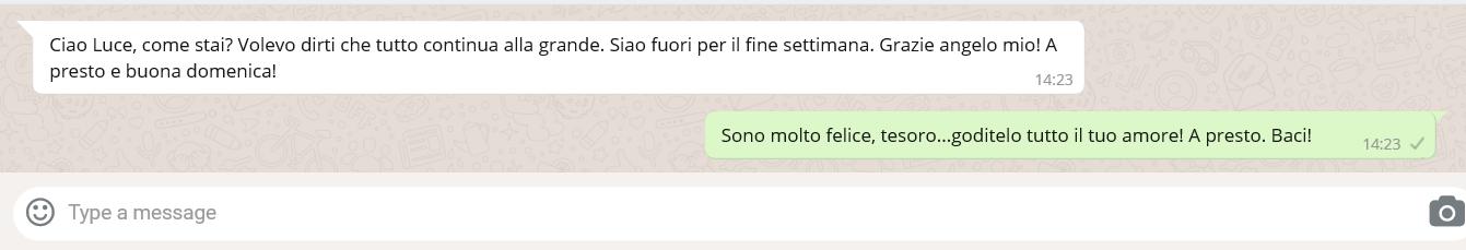 testimonianza rito whatsapp